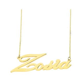Naszyjnik złoty z imieniem Zosia nr RU0010 ZOSIA próba 585