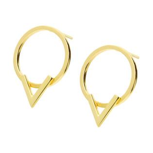 Kolczyki złote koło ramka+V nr AR X3TE11610 próba 585