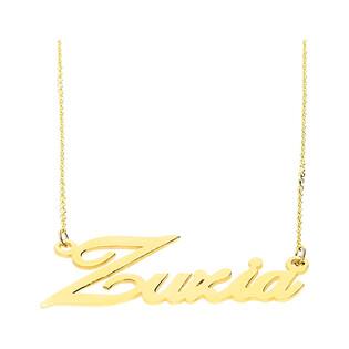 Naszyjnik złoty z imieniem Zuzia nr RU0010 ZUZIA próba 585