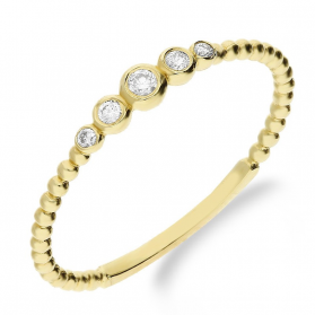 Pierścionek złoty zaręczynowy RINGS z diamentami nr S3 MP030 beads obrączka próba 585