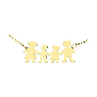 Naszyjnik rodzina z dziewczynką i chłopczykiem OS 249-10109 próba 585