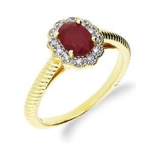 Pierścionek rubin 0,94ct+bryl.0,08ct KU 3415 RB Markiza obr.sznur próba 585