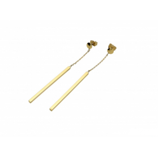 Kolczyki złote pałki na łańcuszku nr AR X4TE9729 próba 333