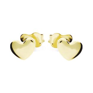 Kolczyki złote serca blask, sztyft AR XXE11350 próba 333