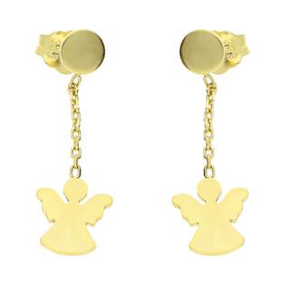 Kolczyki złote anioł na łańcuszku nr MZ T23-E-0218-34-LZ próba 333