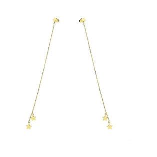 Kolczyki złote wiszące łańcuszki z gwiazdkami nr AR 1586 Au 333