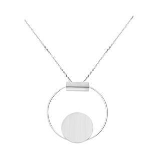 Naszyjnik srebrny kółko blask w kółku nr A6 07570218-04 próba 925