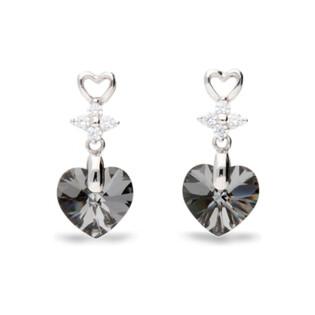Kolczyki srebrne SPARK z kryształami Swarovskiego Petite Heart CQ KC622810SN próba 925