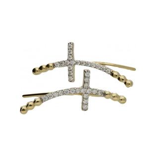 Kolczyki złote nausznice nr MZ T5-E-HK-140-CZ próba 333