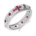 Pierścionek srebrny różaniec MB AS0336 b+cr KK próba 925