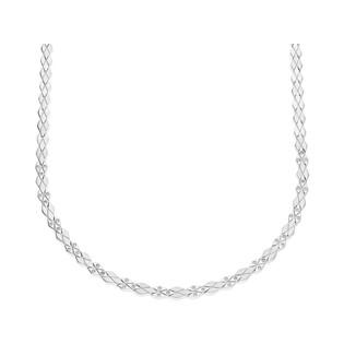 Naszyjnik srebrny romby satyna+romby blask z cyrkonią nr OL RTN006 próba 925
