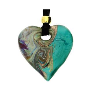Naszyjnik ze szkła murano OVER serce KQ159