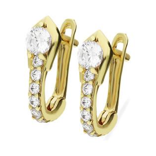 Kolczyki złote dla dziewczynki nr MZ T5-E-BB278-CZ próba 375