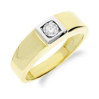 Sygnet złoty z diamentem nr 4469 próba 585