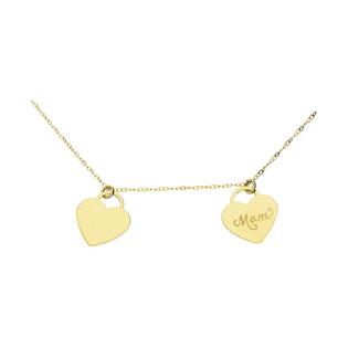 Naszyjnik złoty serca z napisem mama nr AR VX3CABLE14N-1053-II próba 375