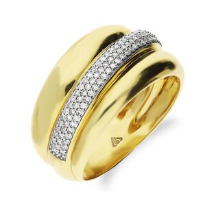 Pierścionek złoty z diamentami DUBAJ nr KU 109421 próba 585