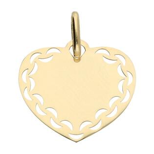 Serduszko złote płaskie boki ażur nr KM519 próba 585
