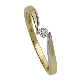 Pierścionek zaręczynowy z diamentem MARIAGE nr KU 78 X próba 585