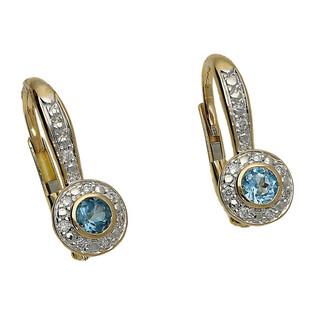 Kolczyki złote z topazem i diamentami nr RQ 222ME-TO