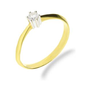 Pierścionek zaręczynowy z diamentem SOLITER TF nr FU B0205 próba 585 SOLITER
