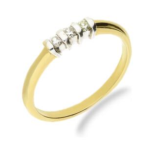 Pierścionek zaręczynowy z diamentami LINE 4B nr GR 6021 61-07-L próba 585 LINE