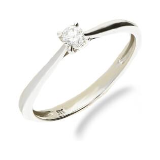 Pierścionek zareczynowy z diamentem SOLITER nr VE 3329 W10 białe złoto próba 585