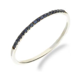 Pierścionek zaręczynowy z szafirami nr VE 4115 WS białe złoto próba 585