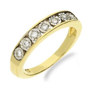 Pierścionek zaręczynowy z diamentami LINE 1R Magic nr VE 3426 obrączka próba 585 LINE