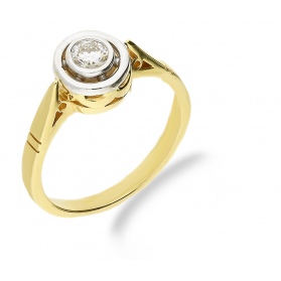 Pierścionek zaręczynowy z diamentem JUBILE nr P4013d GR 4013d 169-12-K próba 585
