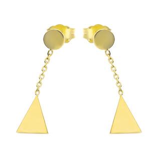Kolczyki złote z trójkątem na łańcuszku nr MZ T23-E-0218-43-CZ próba 333