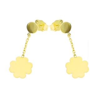 Kolczyki złote koniczyna na łańcuszku nr MZ T23-E-0218-39-LZ próba 333