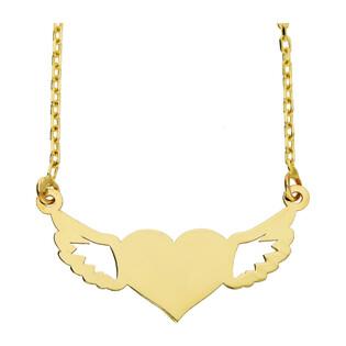 Naszyjnik złoty serce+skrzydła nr MZ L26 próba 585
