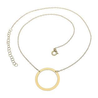Naszyjnik złoty kółko puste 2,5cm/anker nr OS15 próba 585
