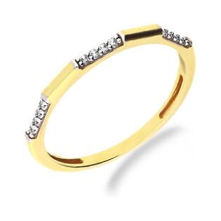 Pierścionek złoty obrączka z cyrkoniami nr GS P-YB-X0R193707-CZ próba 375