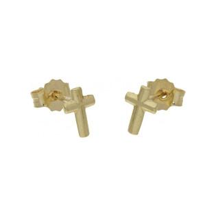 Kolczyki złote krzyżyki nr FL232