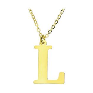 Naszyjnik srebrny pozłacany literka L nr. AT204-L GOLD próba 925