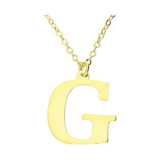 Naszyjnik srebrny pozłacany literka G nr. AT204-G GOLD próba 925