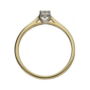 Pierścionek złoty z diamentem Amado nr RS RS0359 serce w koronie próba 585 SERCE