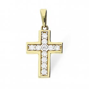 Krzyżyk złoty z cyrkoniami nr MZ P282-CZ Au 333