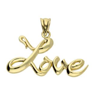 Zawieszka złota napis Love nr PF04-Z próba 585