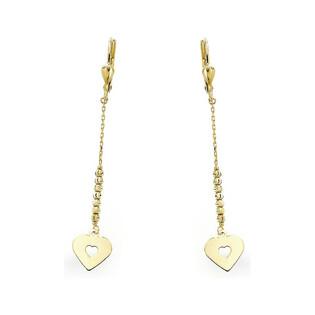 Kolczyki złote wiszące serca na łańcuszku nr AR VX6FOR6E1538-DC Au 333