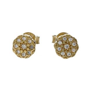Kolczyki złote kwiatki nr MX 17CE0043-Y Au 333