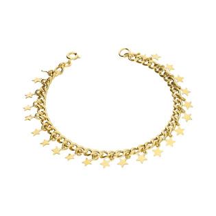Bransoleta pozłacana gwiazdki wiszące PW 323-1 gold próba 925