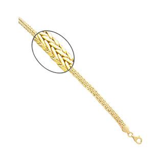 Bransoleta złota taśma jodełka PY AFT0048 próba 375