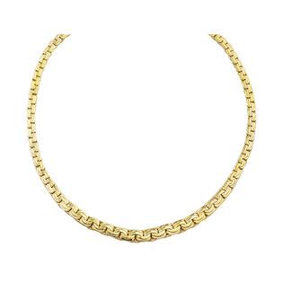 Naszyjnik złoty taśma plecionka poszerzana PY AFT0052 próba 375