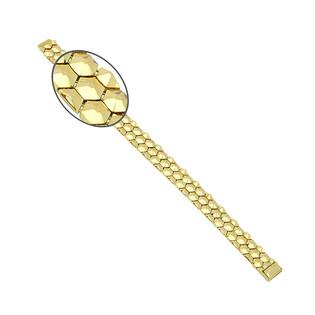 Bransoleta złota taśma ćwieki szeroka PY P15D0064 próba 375