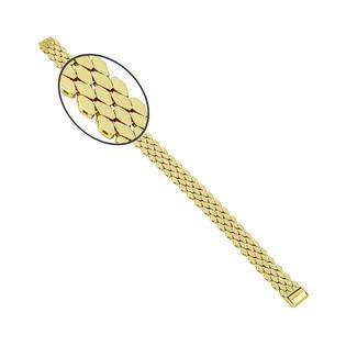 Bransoleta złota taśma romby szeroka PY P15D0058 próba 375