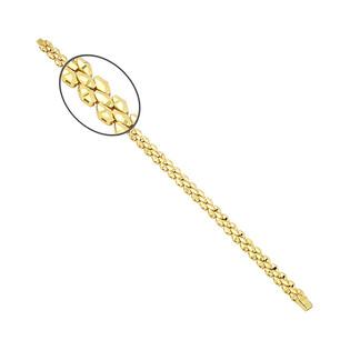 Bransoleta złota taśma romby grawerowane PY P15D0024 próba 375