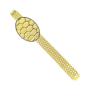 Bransoleta złota taśma plastry miodu szeroka PY P15S0001 próba 375