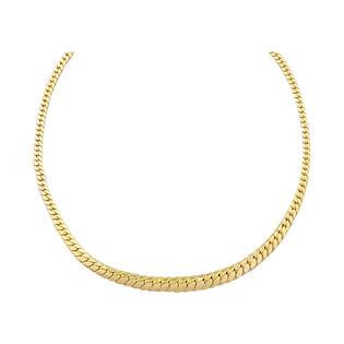 Naszyjnik złoty taśma kłos poszerzana PY AFT0054 próba 375